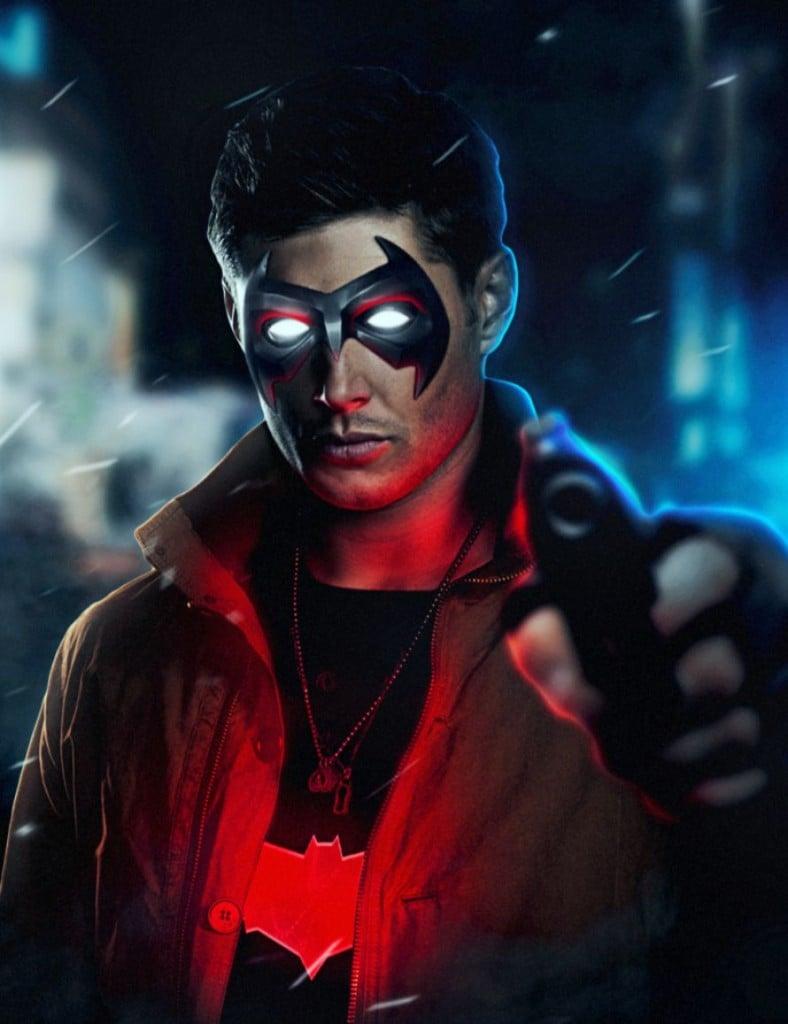 Jensen Ackles Supernatural Red Hood Jason Todd Fan Art
