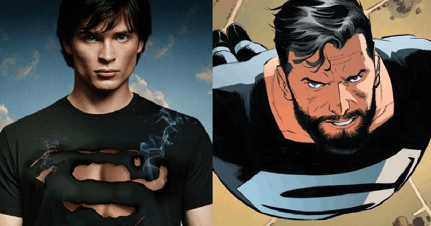 Smallville Tom Welling Black Suit Superman Arrowverse