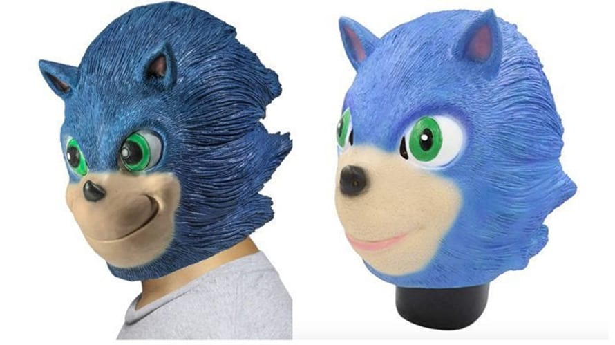 Sonic The Hedgehog Halloween Masks Are On Sale They Re Horrifying