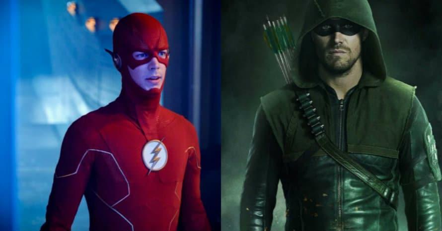 Stephen Amell Arrow Grant Gustin The Flash Arrowverse Crisis On Infinite Earths Hartley Sawyer