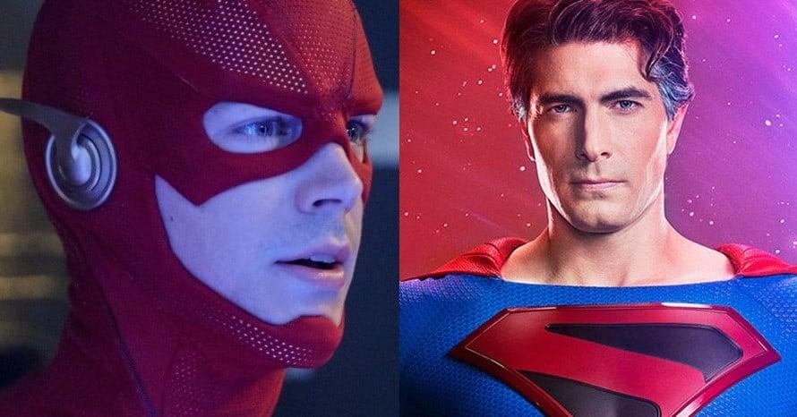 The Flash Superman Grant Gustin Brandon Routh Black Lightning