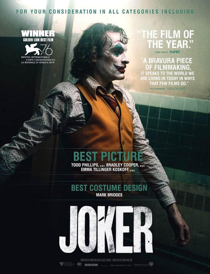 Coringa de Joaquin Phoenix Warner Bros