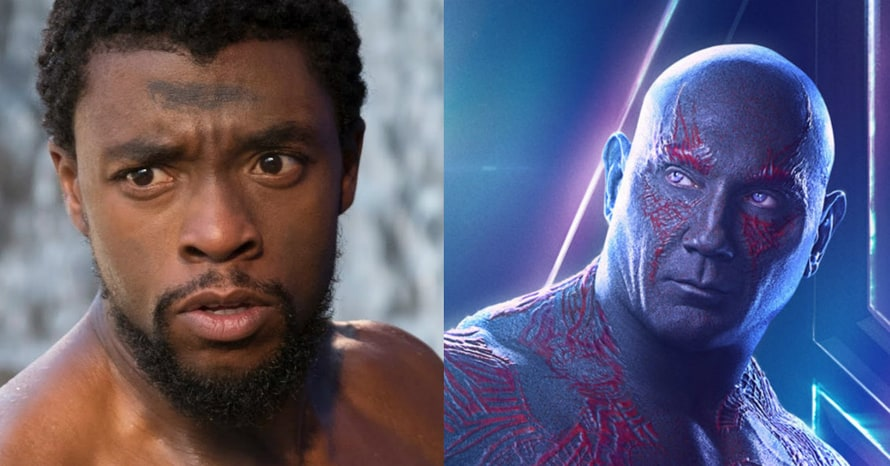 Chadwick Boseman Black Panther Drax the Destroyer Guardians of the Galaxy