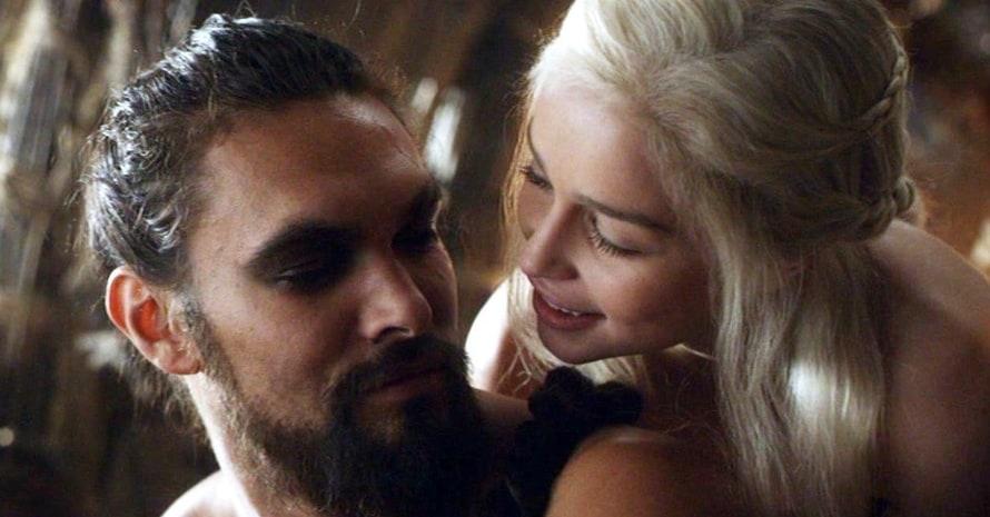 Emilia Clarke Jason Momoa Game of Thrones