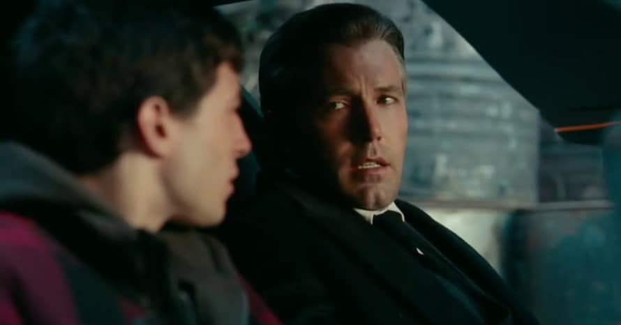 Ezra Miller The Flash Ben Affleck Bruce Wayne Justice League Car