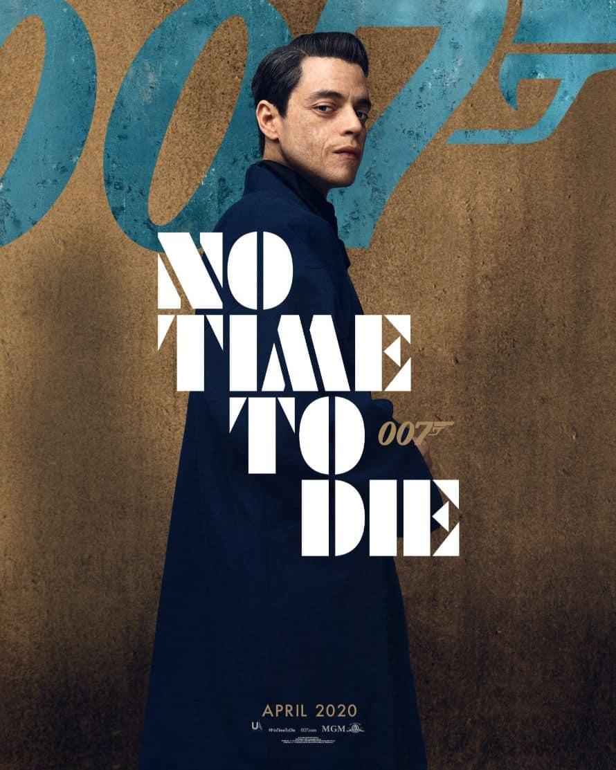 James Bond Daniel Craig No Time to Die Poster Rami Malek