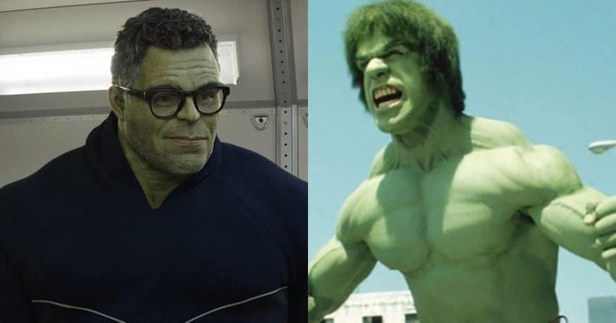 Lou Ferrigno Mark Ruffalo Hulk Avengers Endgame
