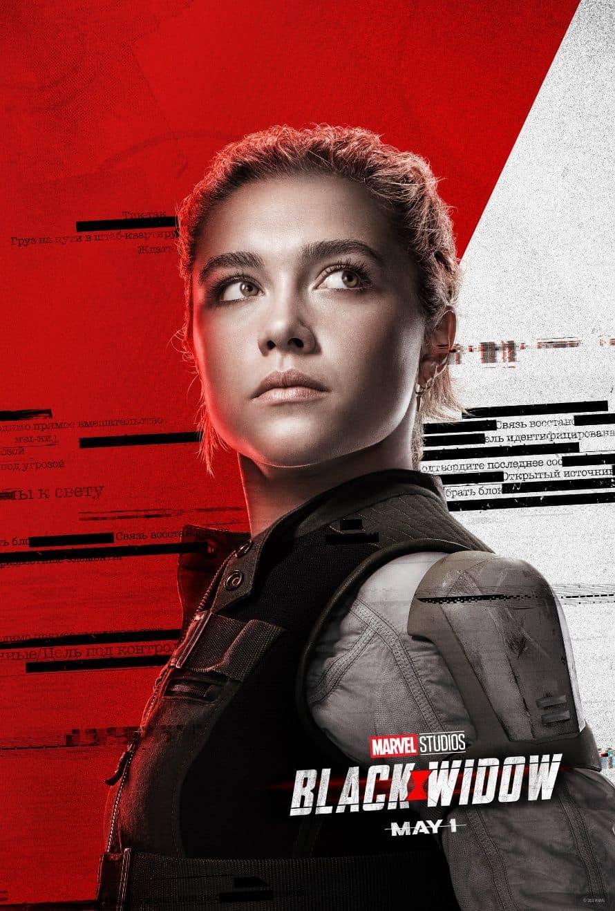 Scarlett Johansson Black Widow Florence Pugh Poster