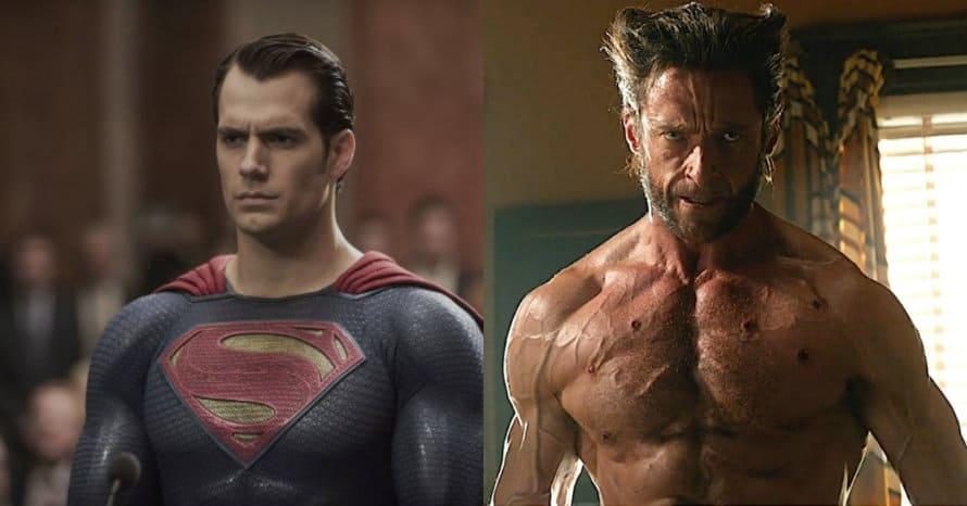 Henry Cavill Hugh Jackman Superman Wolverine MCU