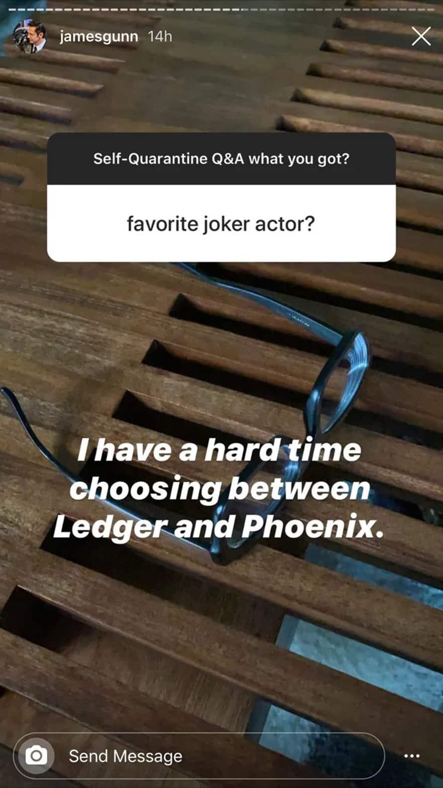 The Suicide Squad James Gunn Joker Answer