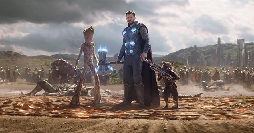 Avengers Infinity War James Gunn Thor Groot Chris Hemsworth