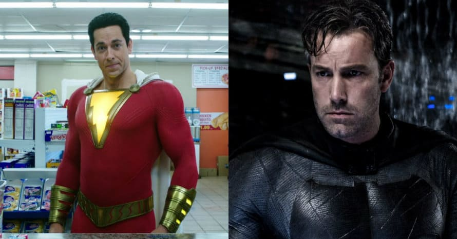 Shazam Batman v Superman Ben Affleck Zachary Levi David F. Sandberg