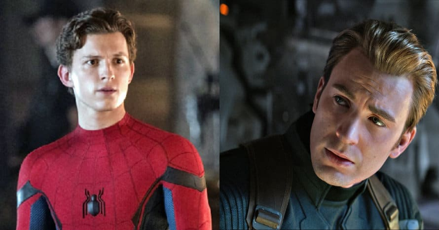Chris Evans Tom Holland Spider-Man Avengers