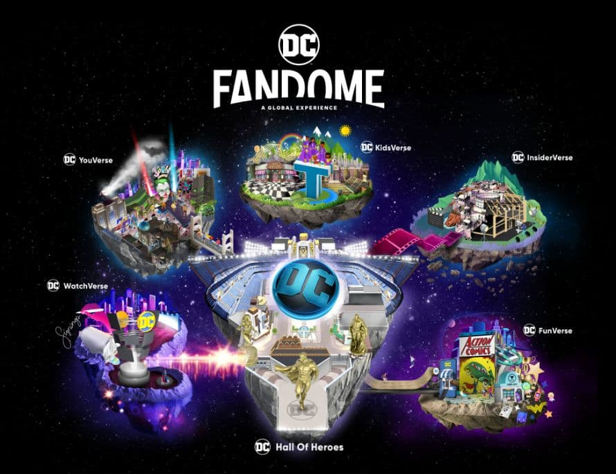 DC Films DC FanDome Map