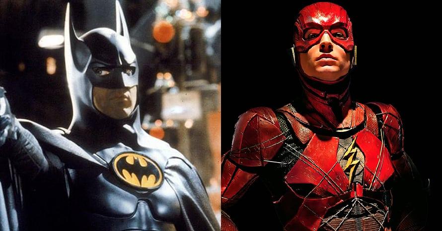 Michael Keaton Batman The Flash Ezra Miller