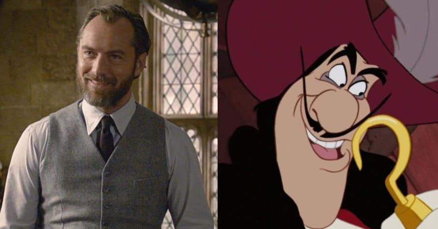 Jude Law Peter Pan & Wendy Captain Hook Disney