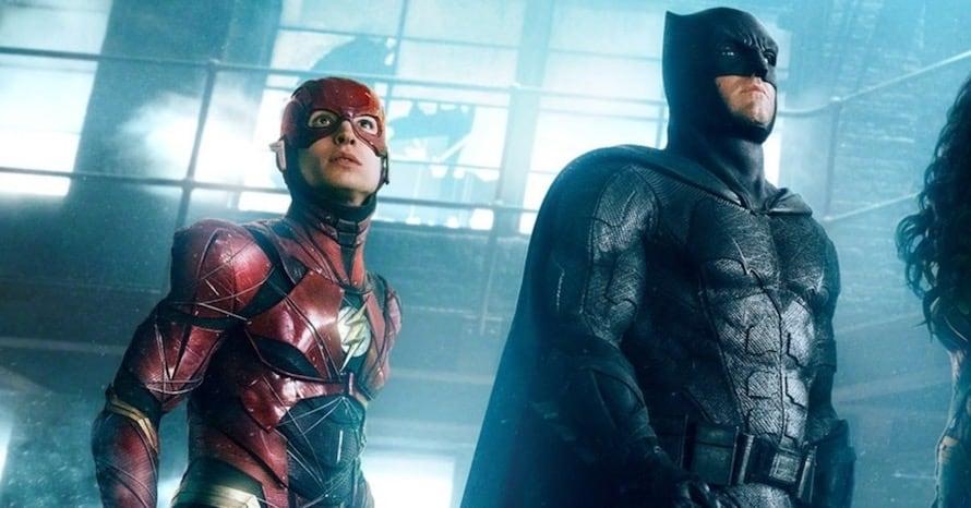 Ben Affleck Batman The Flash Ezra Miller Barry Allen Batcycle