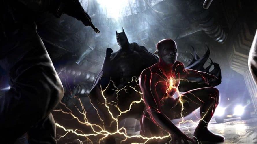 Ezra Miller The Flash Michael Keaton Batman Concept Art