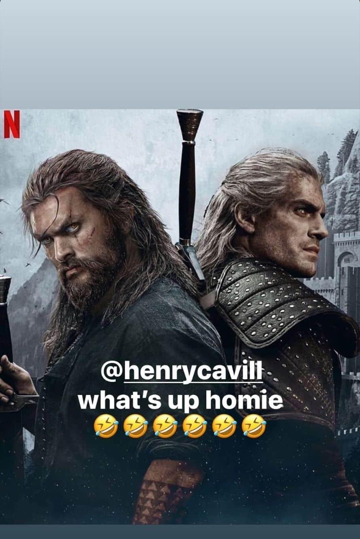 Henry Cavill Jason Momoa The Witcher Aquaman Netflix