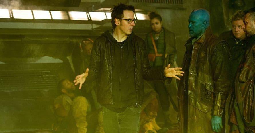 James Gunn Guardians of the Galaxy Set Marvel Studios