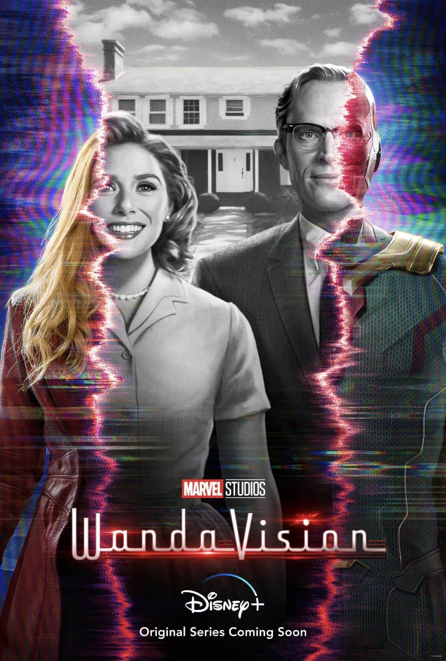 WandaVision Poster Disney Plus Elizabeth Olsen Paul Bettany