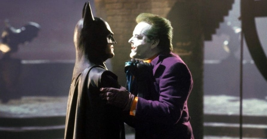 Michael Keaton Jack Nicholson Batman Joker Tim Burton