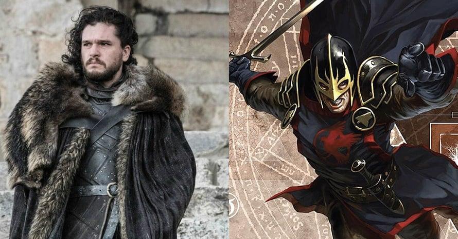 Game of Thrones Kit Harington Black Knight Eternals Marvel
