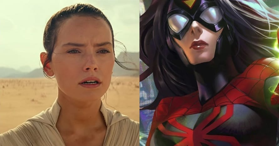 <div>Daisy Ridley Talks 'Spider-Woman' Rumors & If She'd Join The MCU</div>