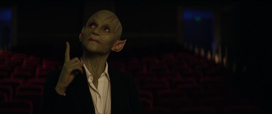 Elizabeth Olsen WandaVision Skrull scene