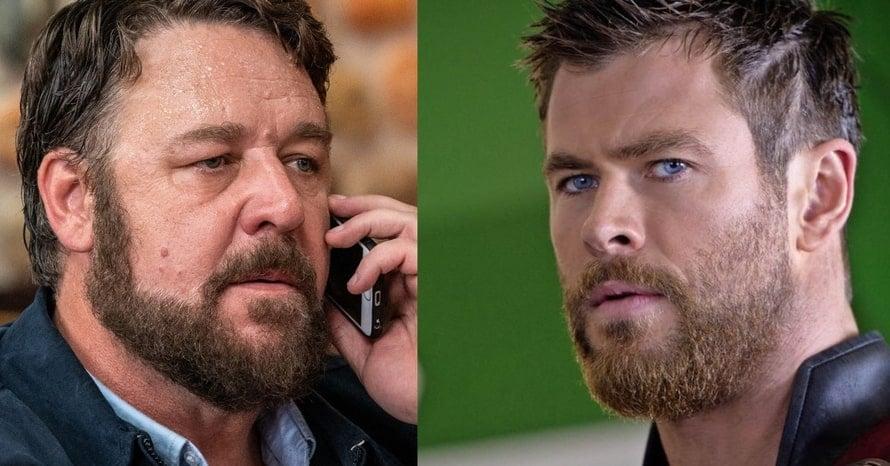 Russell Crowe Chris Hemsworth Thor Love And Thunder Avengers Marvel