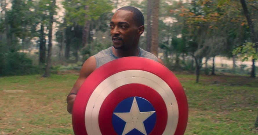 Anthony Mackie Sam Wilson The Falcon And The Winter Soldier Captain America Shield