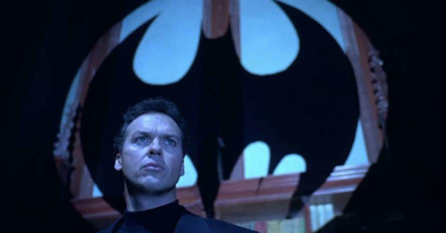 Michael Keaton Batman The Flash Ezra Miller Wayne Manor
