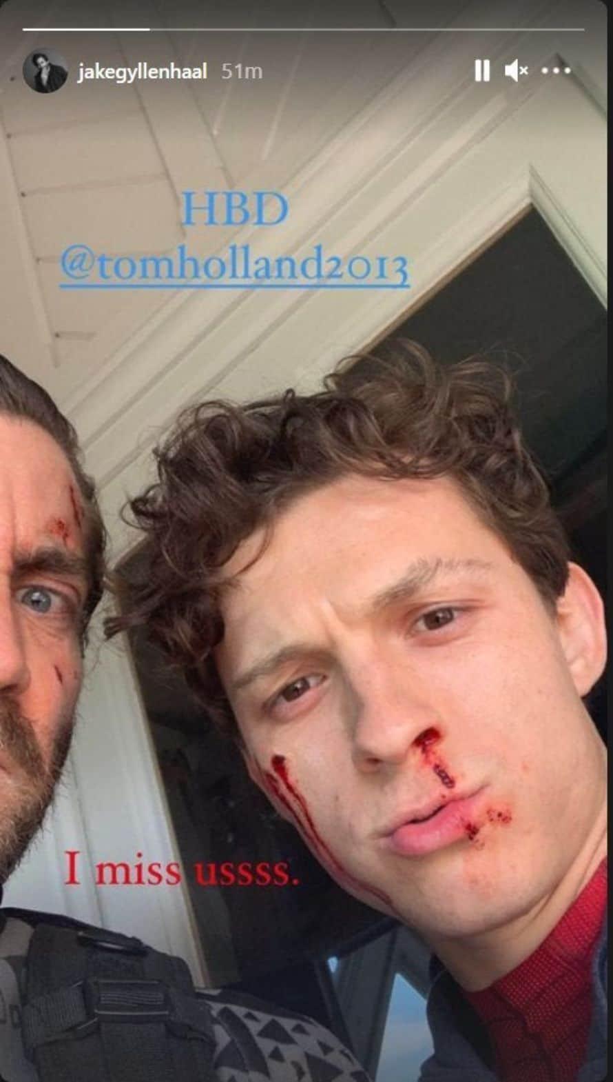Jake Gyllenhaal Tom Holland Spider-Man