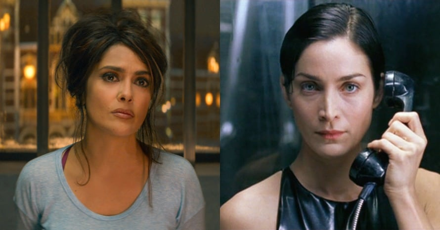 Salma Hayek Carrie-Anne Moss The Matrix Trinity