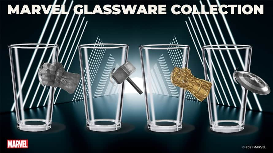 Marvel Glassware Collection 01 Avengers