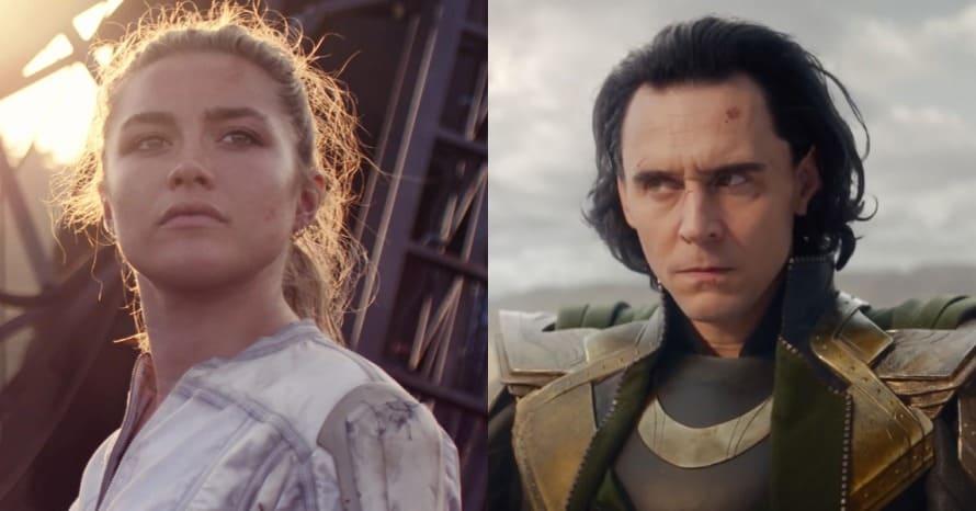 Florence Pugh Black Widow Tom Hiddleston Loki